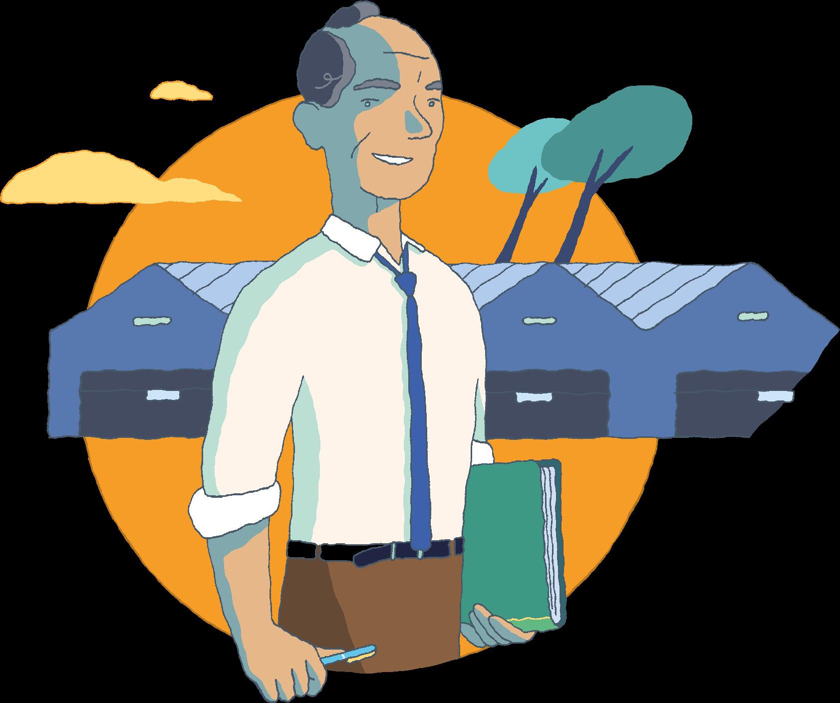 Illustration d'un chef d'entreprise