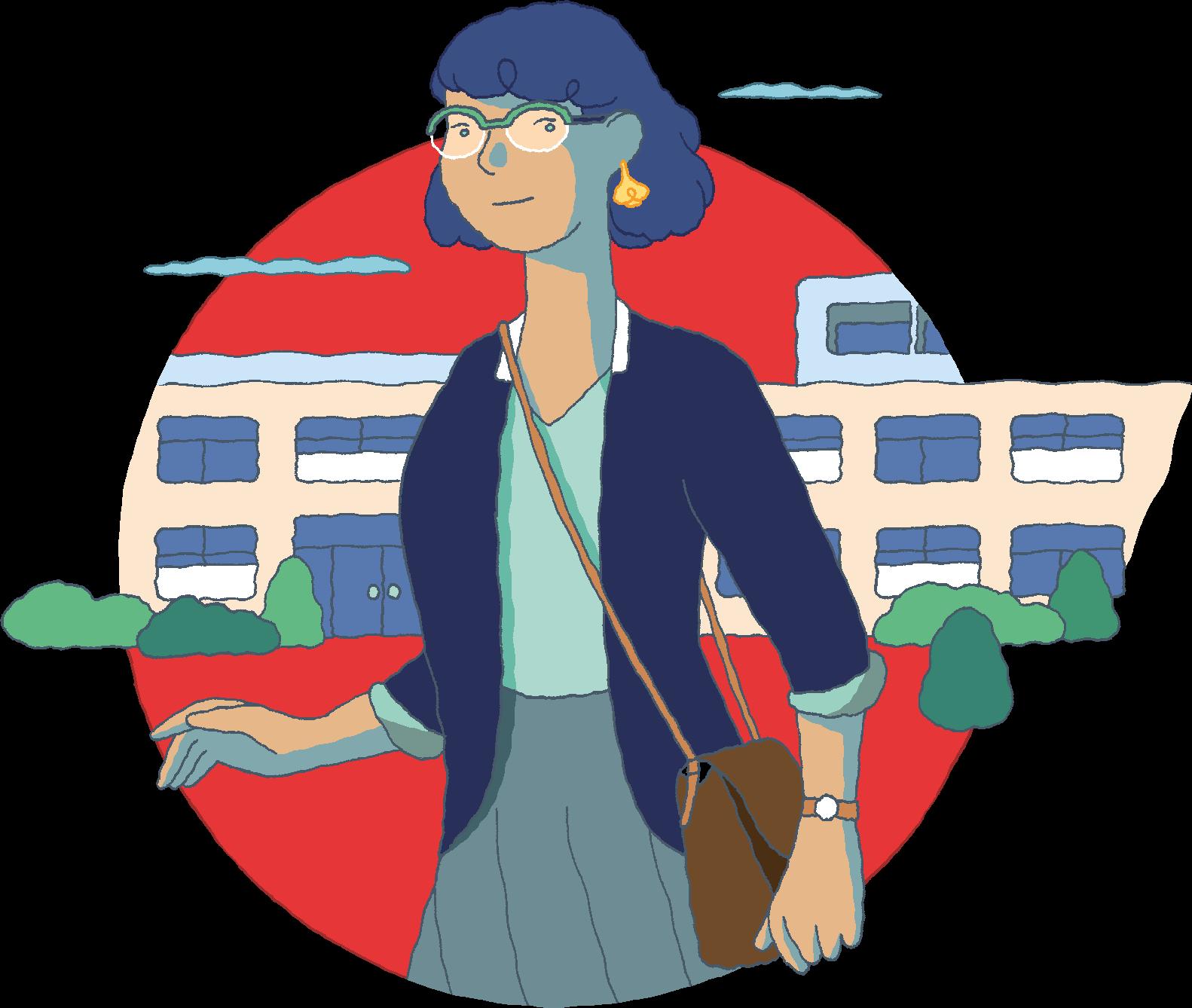 Illustration d'une employée